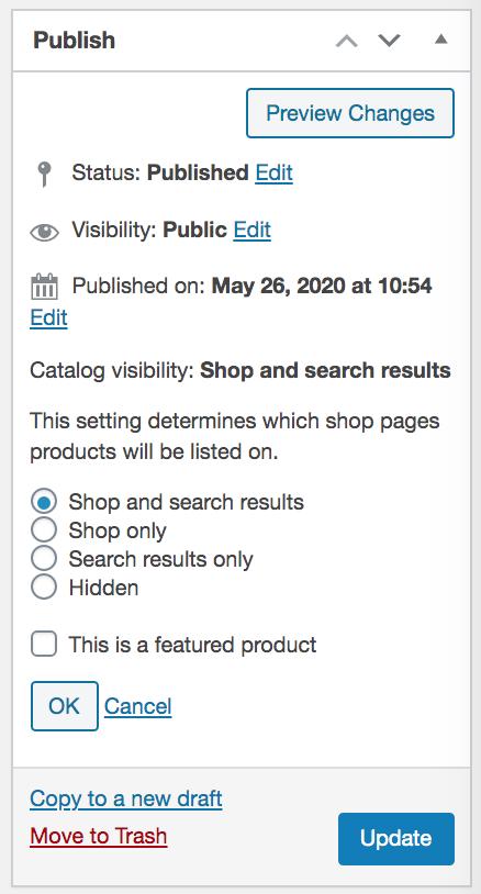 fix WooCommerce shop page empty - Catalog Visibility