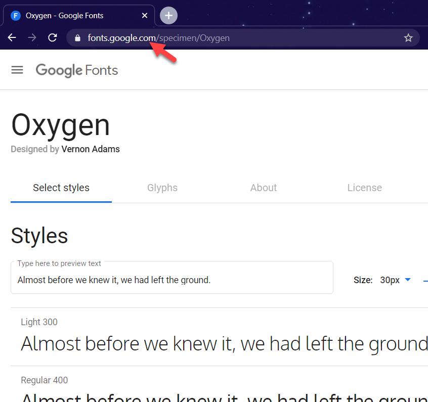 add google fonts to wordpress - Font URL