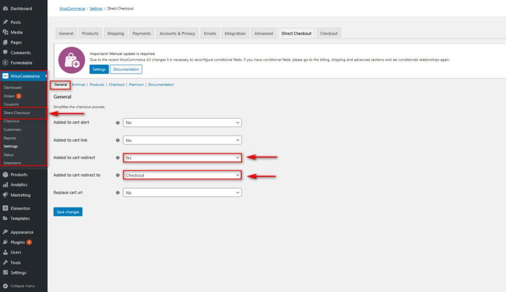 optimize woocommerce checkout - quick checkout button