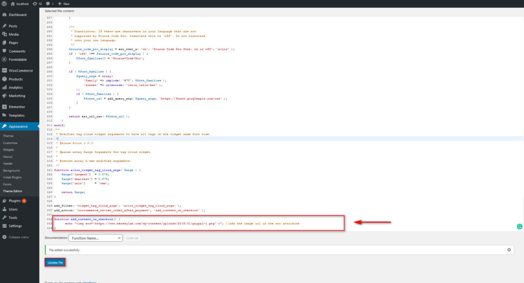 optimize woocommerce checkout - trust badge code