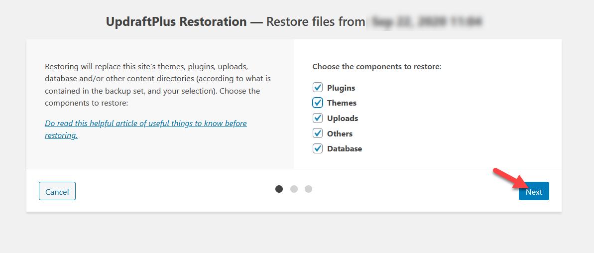 restore components