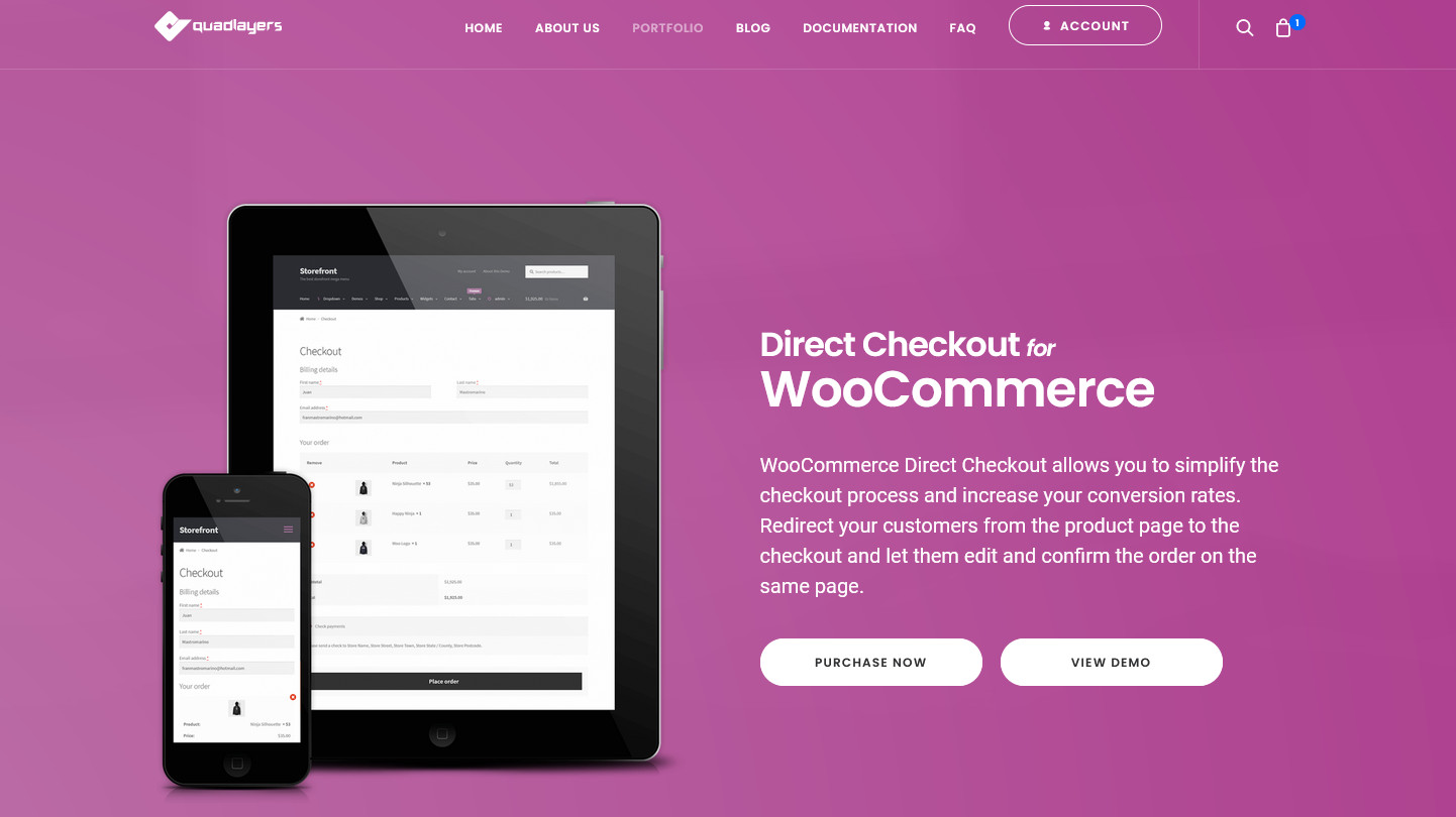 woocommerce direct checkout link - direct checkout plugin image