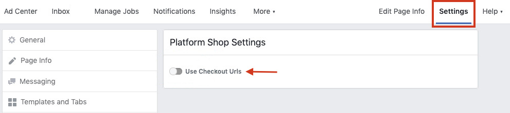 Facebook for WooCommerce not working - Change checkout URL
