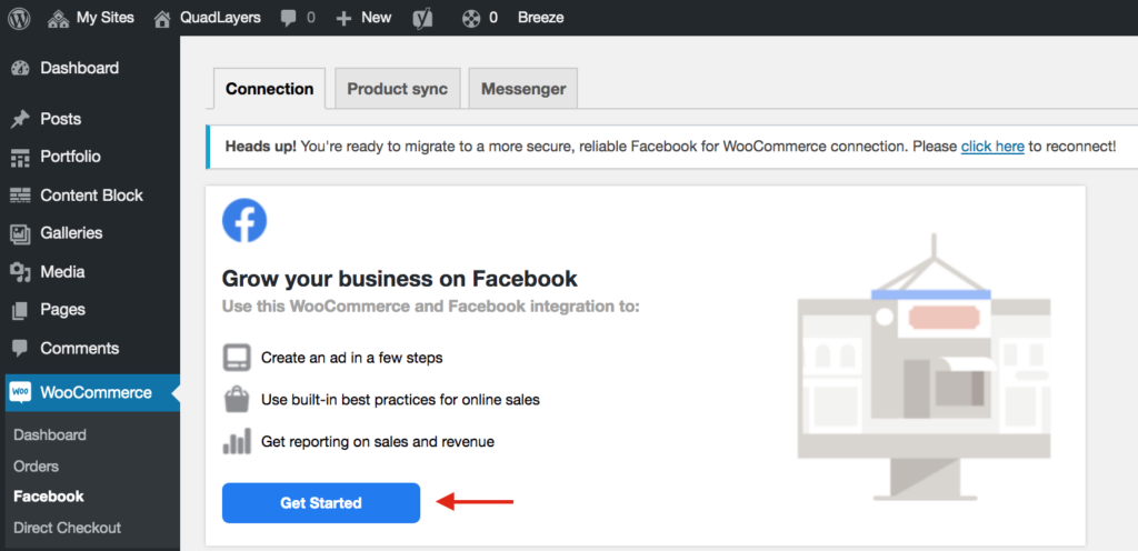 Facebook for WooCommerce not working - Connect Facebook Shop