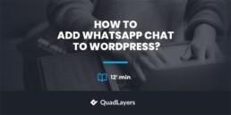 How to add WhatsApp Chat to WordPress
