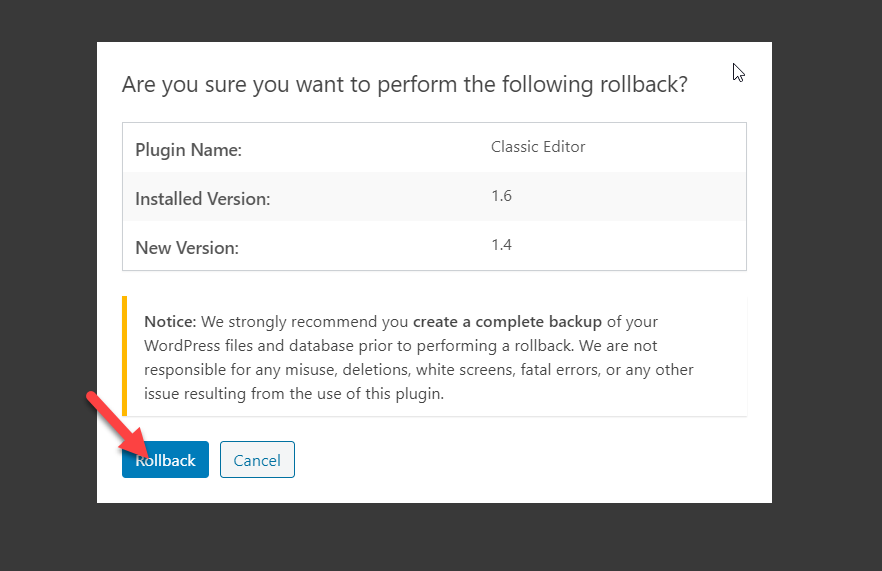 How to Downgrade Plugins and Themes in WordPress with WP Rollback
