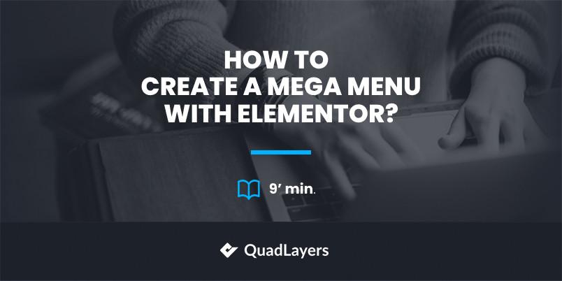 create mega menu with elementor - featured image
