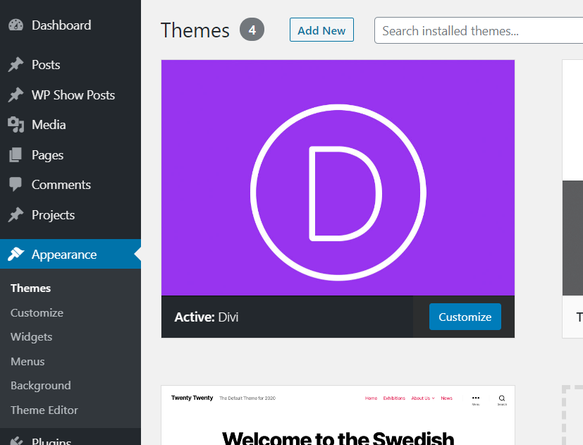 Make Divi Header Sticky - divi theme activated