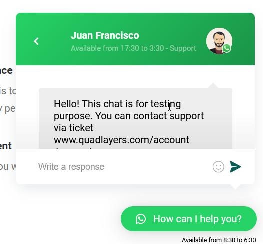 Add WhatsApp Chat to WordPress - Chatbox