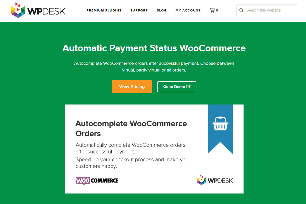plugins to autocomplete woocommerce orders - automatic payment status woocommerce