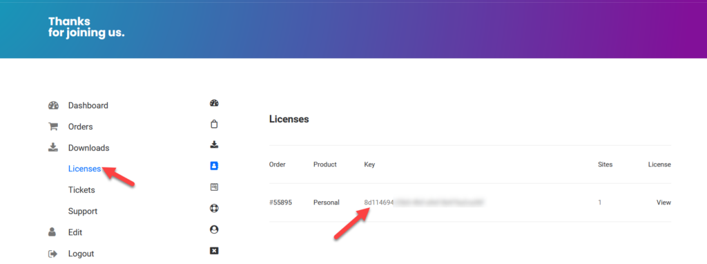 quadmenu licenses