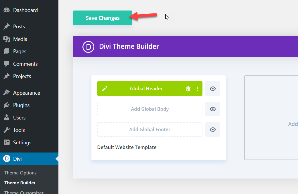 How To Make Divi Header Sticky (Step-By-Step Guide) - save divi builder options