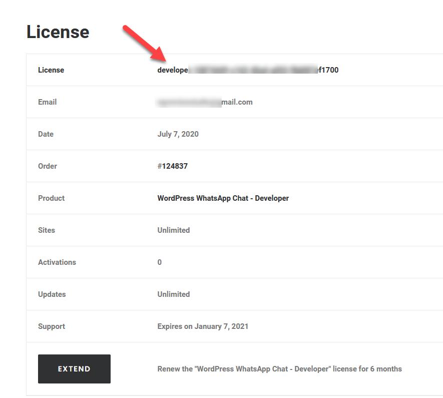 whatsapp chat license key