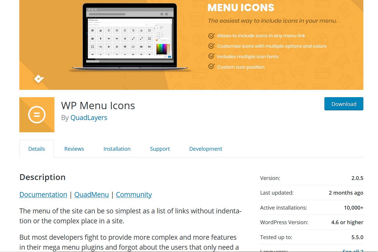 Add Social Media Icons to WordPress Menu - WP menu icons plugin