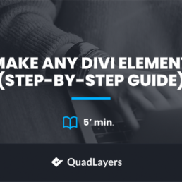 How to Make Any Divi Element Sticky