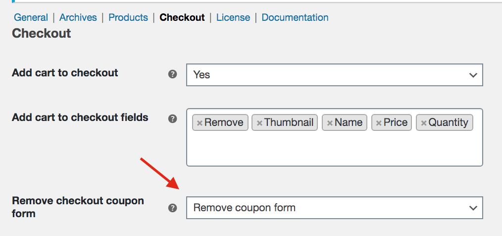 Remove coupon form with Direct Checkout