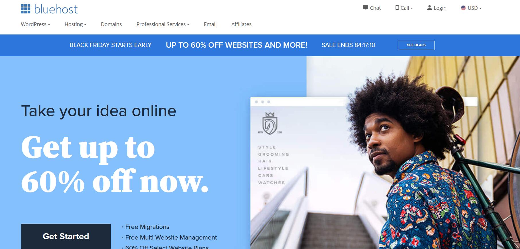 WordPress Hosting Services - bluehost