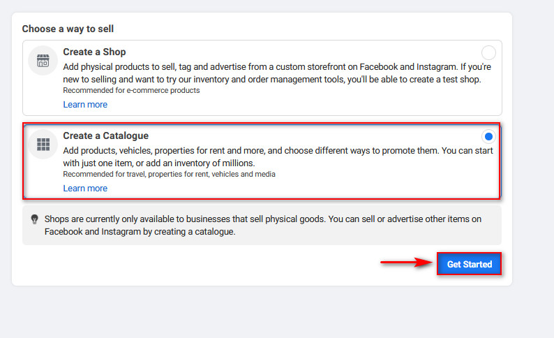 connect woocommerce to instagram - create a catalogue started