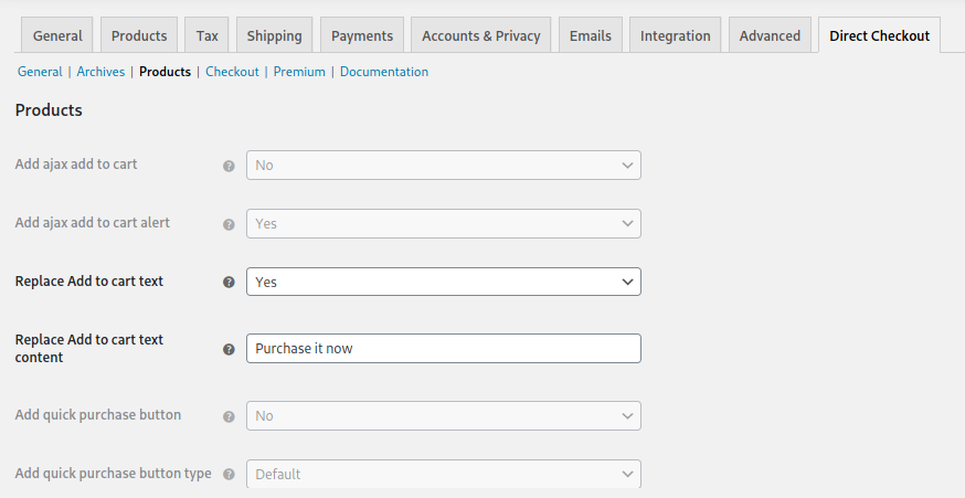 customize Add to cart button WooCommerce - Direct checkout plugin