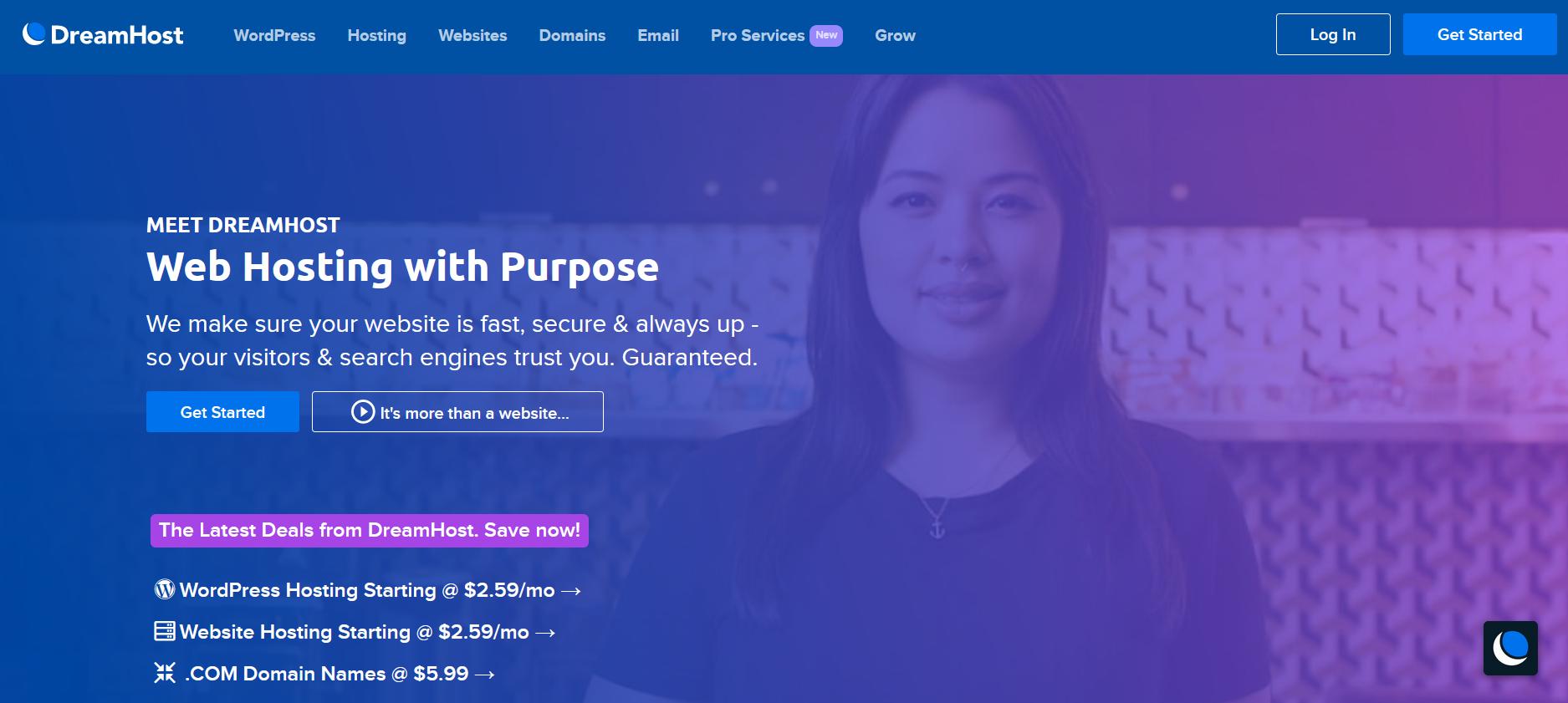 WordPress Hosting Services - dreamhost