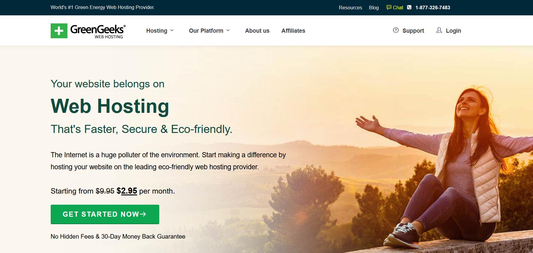 best wordpress hostings - greengeeks