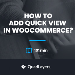 How to add quick view in WooCommerce