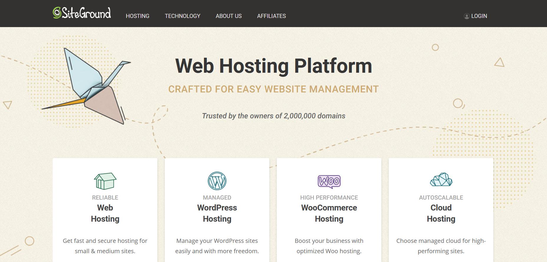 WordPress Hosting Services - siteground