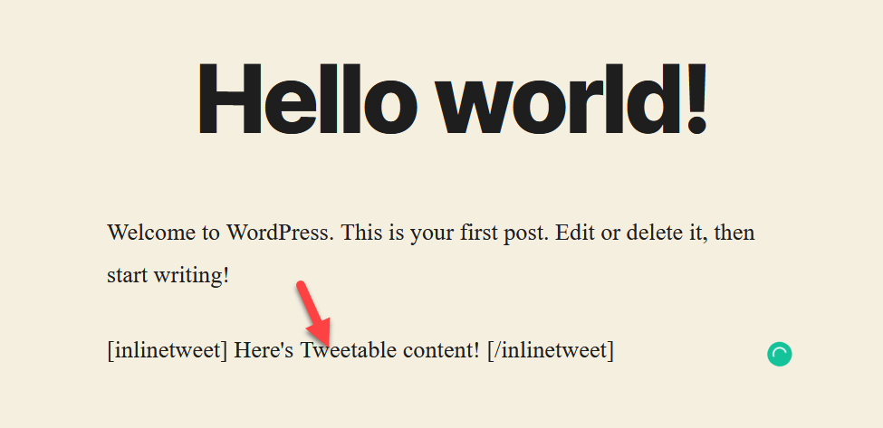 Connect Twitter with WordPress - add tweetable content