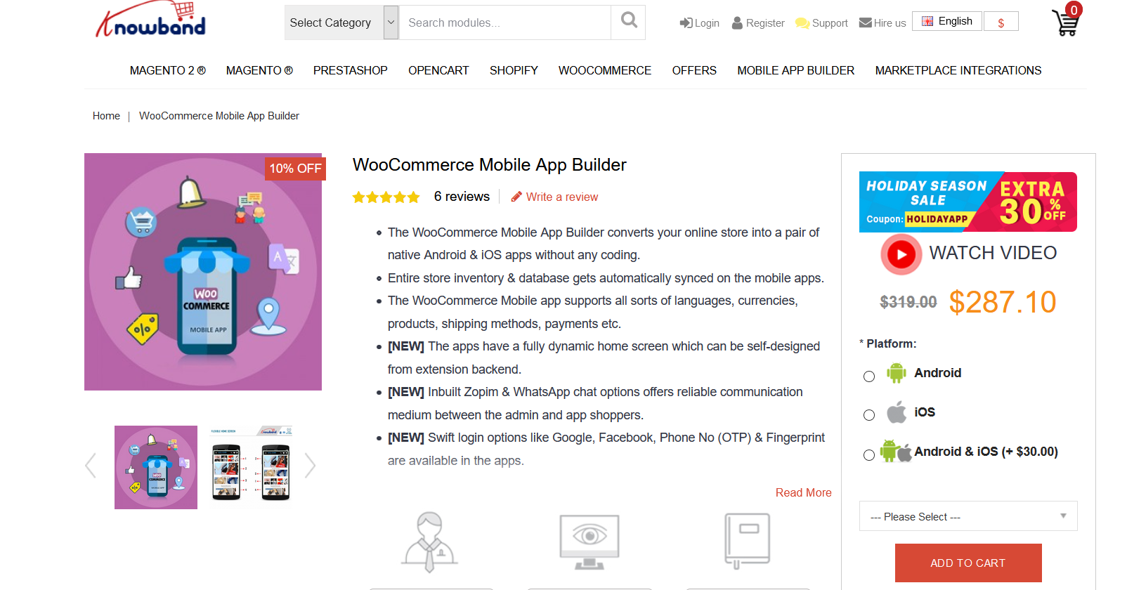 best WooCommerce app builders - mobile app builder