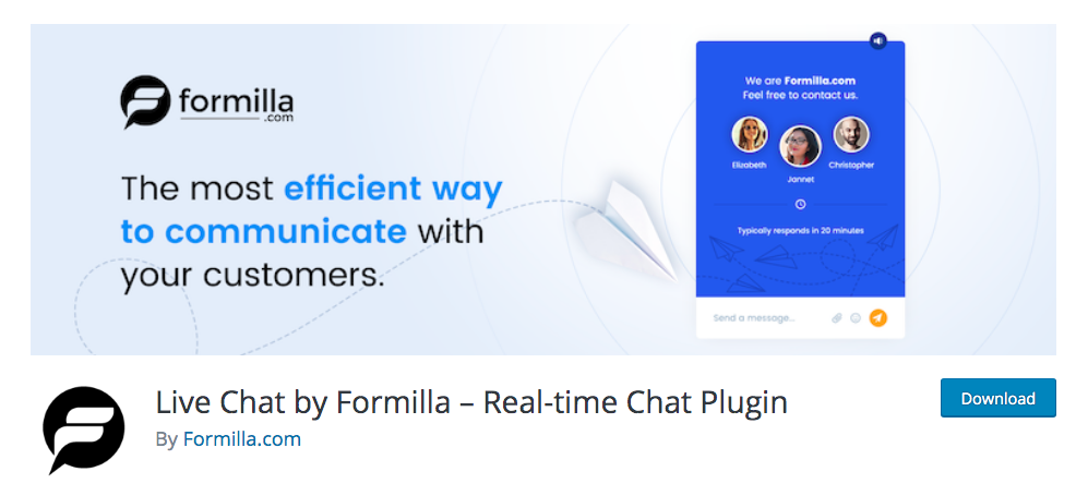 best woocommerce free live chat - live chat formilla