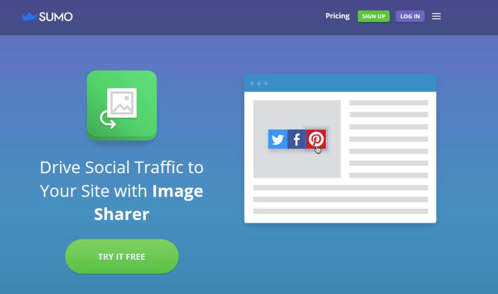 Social Media Plugins for WordPress - sumo image sharer