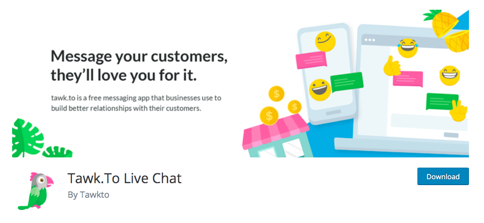 best woocommerce free live chat - tawk.to