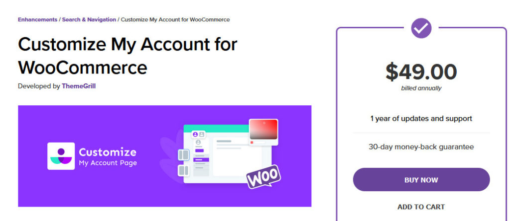 customize my account page woocommerce - customize my account