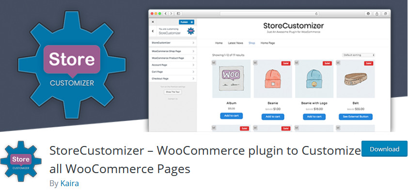 customize my account page woocommerce - store customizer