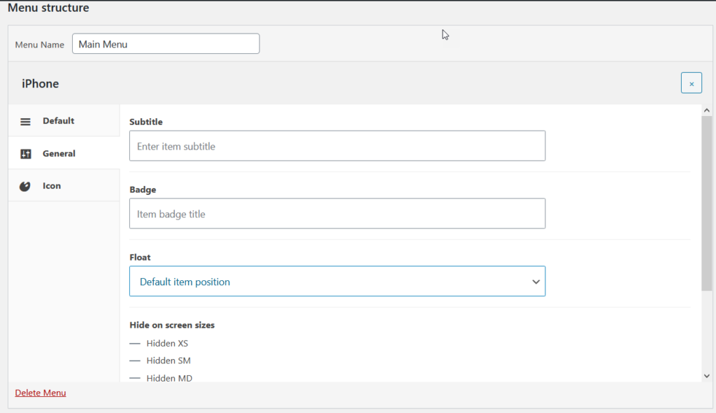 Add WooCommerce Product Categories to the Menu - QuadMenu general settings