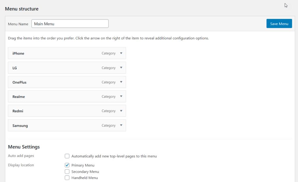 add WooCommerce product categories to menu - main menu