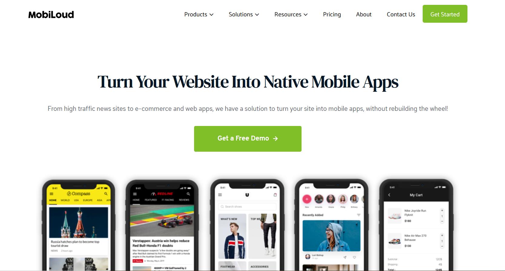 Best WooCommerce App Builders - mobiloud