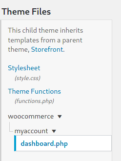 Edit WooCommerce My Account page programmatically - Overriding template file