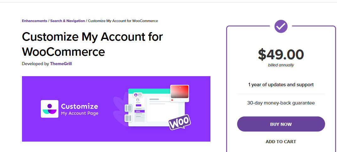 plugins to customize my account page - customize my account for WooCommerce