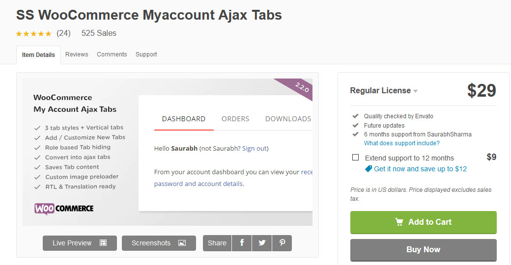 plugins to customize my account page - ss woocommerce myaccount ajax tabs
