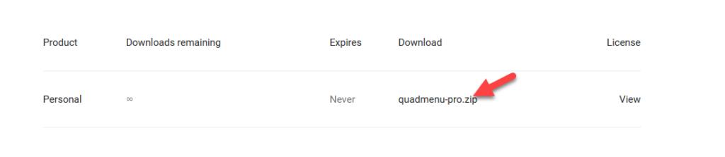 quadmenu premium purchase