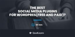 social media plugins for WordPress - featured image