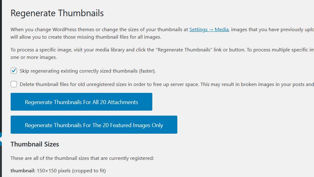 add custom image sizes in wordpress - main settings