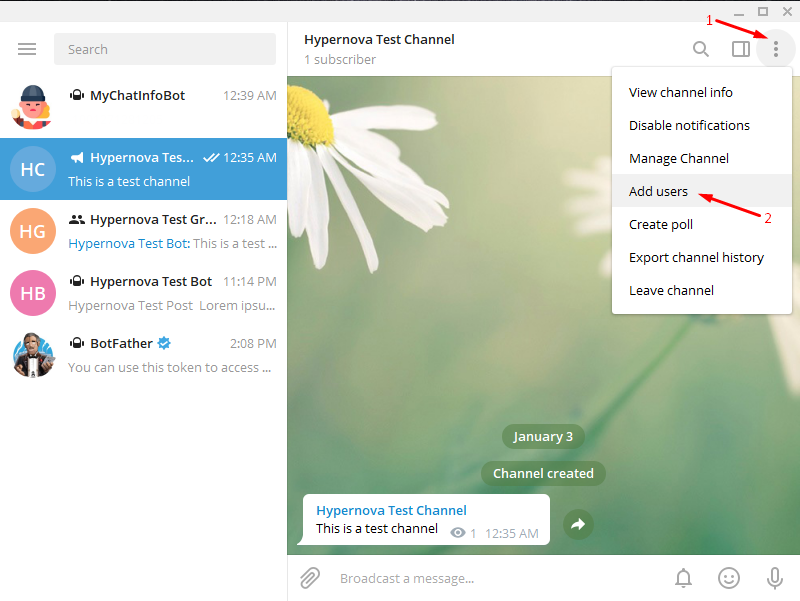 Add Telegram to WordPress - Add Users to Channel