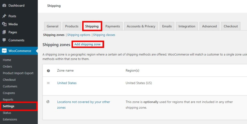 Add fees to WooCommerce Checkout - Shipping zone