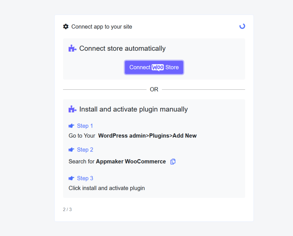 connect woocommerce store