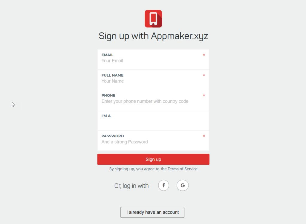 create woocommerce mobile app - appmaker.xyz account