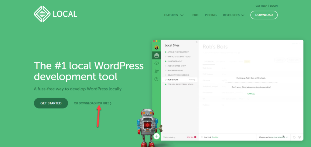 install wordpress locally - download local software