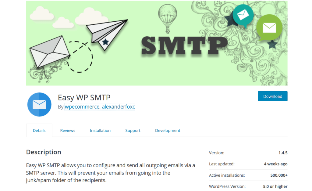 best SMTP plugins - easy wp smtp plugin