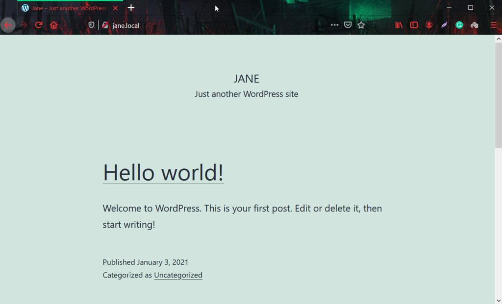 install wordpress locally -installed
